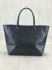 for woman/トートバッグ/レザー/GRY/クロコ型押し