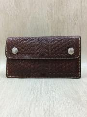 Alfonso OF HOLLYWOOD LEATHER Co. USA/長財布/牛革/BRW/無地