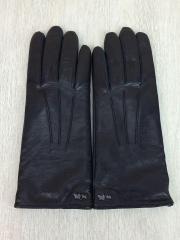 手袋/レザー/BLK/無地