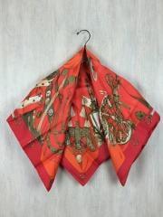スカーフ/シルク/ORN/総柄