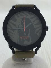 クォーツ腕時計/アナログ/ラバー/GRY