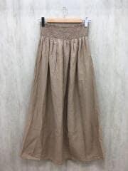ロングスカート/--/コットン/BEG/無地/コットンシルクシャーリングマキシスカート
