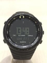 CORE ALL BLACK/クォーツ腕時計/デジタル/ラバー/BLK