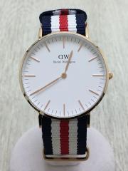 腕時計/アナログ/ナイロン/NVY