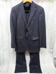 D1H16-208-06/スーツ/--/ウール/NVY/ストライプ/3点セット/パンツスレ有り