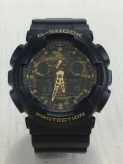 クォーツ腕時計/デジアナ/BLK/GRN/GA-100CF/カモフラージュダイアルシリーズ