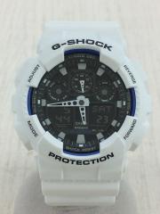 クォーツ腕時計・G-SHOCK/デジアナ/ラバー/BLK/WHT/GA-100B-7AJF