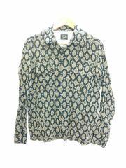 長袖シャツ/XS/--/BLK/総柄/20SS/バロックプリントシャツ/裾ホツレ有