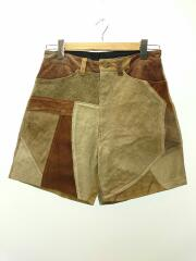 VINTAGE PATCH LEATHER SHORTS/ショートパンツ/2/レザー/CML