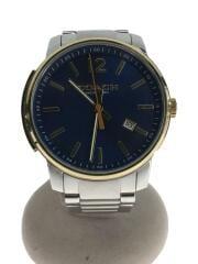 BLEECKER&Preston/腕時計/14602342/ステンレス/BLU/SLV