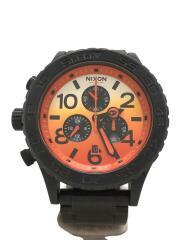 THE 42-20 ALL BK/SUNRISE/クォーツ腕時計/アナログ/オレンジ×ブラック