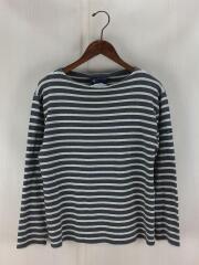 バスクシャツ/長袖Tシャツ/ロンT/36/S/グレー/ボーダー/ボートネックシャツ