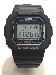 クォーツ腕時計/デジタル/ラバー/BLK/BLK/DW-5600E