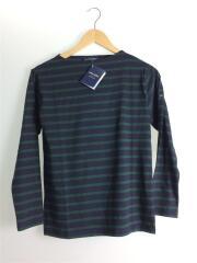 MORLAIX DIVERS A モーレ 薄手長袖Tシャツ ボーダー カットソー ネイビーグリーン T1