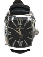 クォーツ腕時計/アナログ/レザー/BLK/OR-0012N