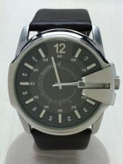 腕時計/アナログ/レザー/GRY/BRW