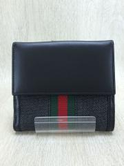 2つ折り財布/キャンバス/BLK