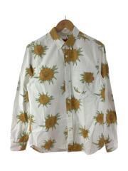 15SS Sunflower Shirt/長袖シャツ/S/コットン/WHT/総柄