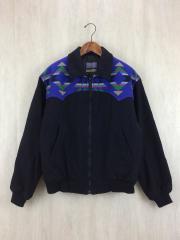 70s~80s/ネイティブ柄ジャケット/M/ウール/BLK