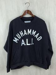 BLACK WEIRDOS/2016ss/MUHAMMAD ALI SWEATER/スウェット/L/コットン/BLK