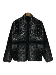 19AW/Reversible Bandana Fleece Jack/フリースジャケット/M/ポリエステル/BLK