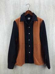 長袖シャツ/40/ウール/BLK