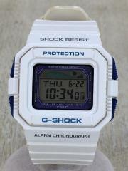 クォーツ腕時計/GLX-5500/デジタル/PVC/CLR/WHT/中古
