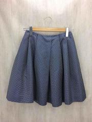 スカート/36/シルク/NVY/ドット