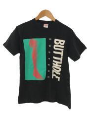 21SS/Butthole Surfers Leg Tee/Tシャツ/S/コットン/BLK