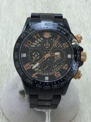 自動巻腕時計/アナログ/BLK