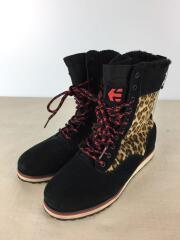 etnies/エトニーズ/ブーツ/23.5cm/ブラック/黒/レオパード/ヒョウ柄/スウェード