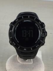 BARIGO/クォーツ腕時計/デジタル/ラバー/ブラック/黒/E7/中古