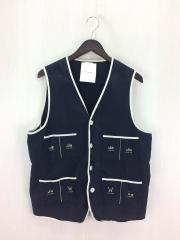 16SS/SEXY COMIC-VEST/ワークベスト/L/コットン/NVY/WRD-16-SS-06
