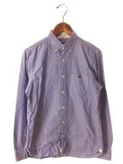 長袖シャツ/2/コットン/BLU/刺繍/d1m01-700-26