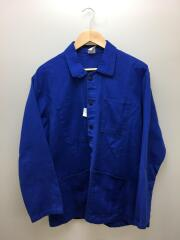 フランス製/フレンチワークジャケット/50/コットン/BLU