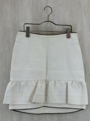 スカート/40/コットン/WHT