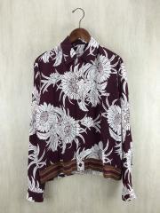 ブルゾン/S/レーヨン/BRD/花柄シャツジャケット