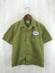 14ss/T-BOWLS PP/ボーリングシャツ/XS/コットン/GRN
