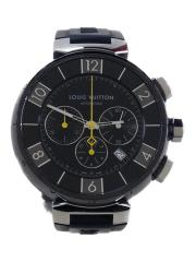 腕時計/クォーツ式/アナログ/ラバー/BLK