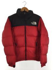 Nuptse Jacket/ヌプシジャケット/ND91631/ダウンジャケット/M/ナイロン/レッド