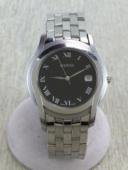 クオーツ腕時計/アナログ/BLK/SLV