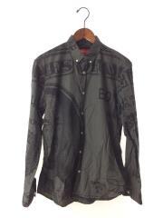 franklin shirt/長袖シャツ/M/コットン/グレー