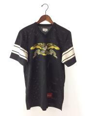×ANTI HERO/Football Top/Tシャツ/M/ポリエステル/ブラック/黒