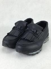 STUDIOUS別注/厚底ソールビットローファー/25cm/ブラック/ナイロン