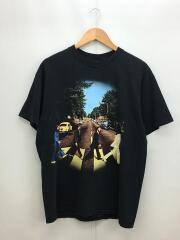 90s/The Beatles/ABBEY ROAD/Tシャツ/L/コットン/BLK