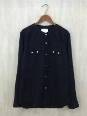 PIG&ROOSTER/PANIOLO RAYON SHIRT/長袖シャツ/42/レーヨン/BLK