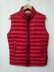 13AW/GARMENT DYED DOWN VEST/ダウンベスト/S/ナイロン/RED/5915G0124