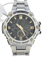 タフソーラー/ソーラー腕時計/アナログ/--/BLK/SLV/GST-B100
