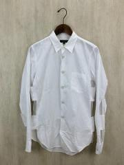 長袖シャツ/S/コットン/WHT/デザインシャツ/AD2012/PK-B001
