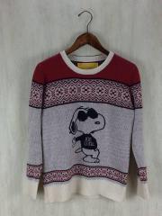 セーター(厚手)/XS/ウール/RED